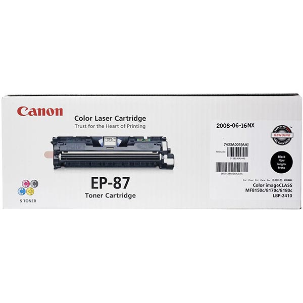 Genuine OEM Canon 7433A005AA (EP-87) Black Toner Printer Cartridge (5000 page yield)