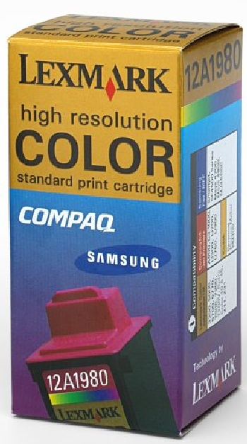 Genuine OEM Lexmark 12A1980 (Lexmark #80) Tri-Color Inkjet Cartridge (470 page yield)