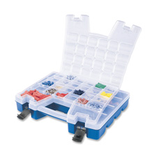 "Portable Organizer,13-3/8""x18-1/4""x3-5/8"",BE Base/CL Lid"