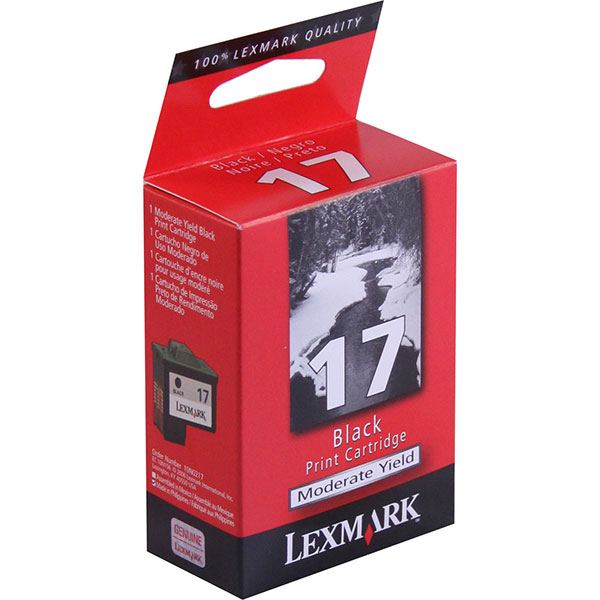 Genuine OEM Lexmark 10N0217 (Lexmark 17) Black Ink Cartridge