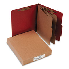 "Classification Folders, 3"" Exp,Letter,2 Partition, Earth Red"
