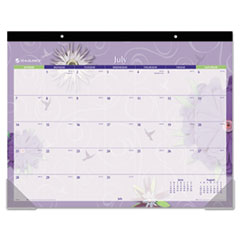 "Desk Pad Calendar,12-Mth,Jan-Dec,1PPM,22""x17"",Flowers"