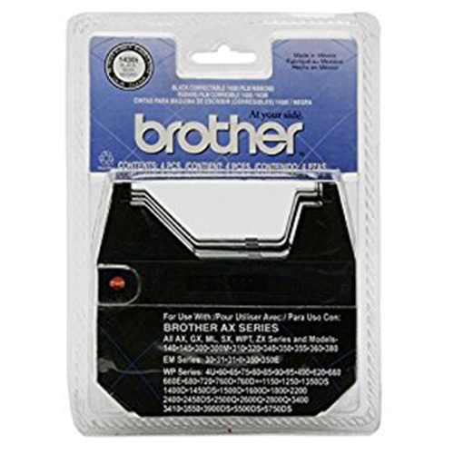 Genuine OEM Brother 1430I Black Correctable Ribbon (12/Box) (4 Box/EA)
