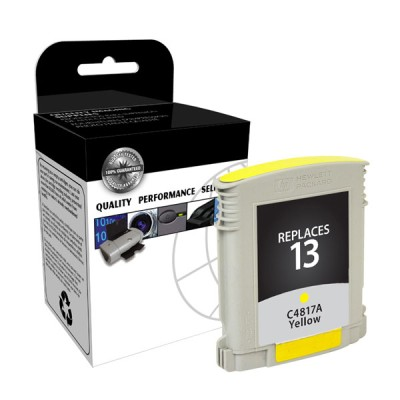 Premium Quality Yellow Print Cartridge compatible with the HP (HP 13) C4817A (1000 page yield)