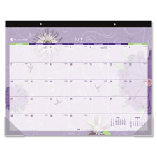 "Mthly Academic Desk Pad,1MPP,17""x22"",13Mths July-July,Multi"