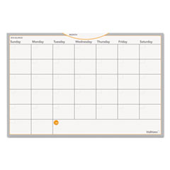 "Dry Erase Planning Surface, Monthly, 12""x18"", White"