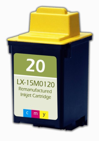 Premium Quality Tri-Color Inkjet Cartridge compatible with the Lexmark (Lexmark #20) 15M0120