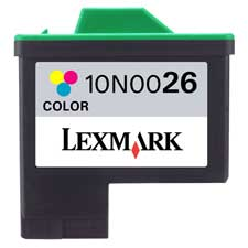 Genuine OEM Lexmark 10N0026 (Lexmark #26) Color Inkjet Cartridge (275 page yield)