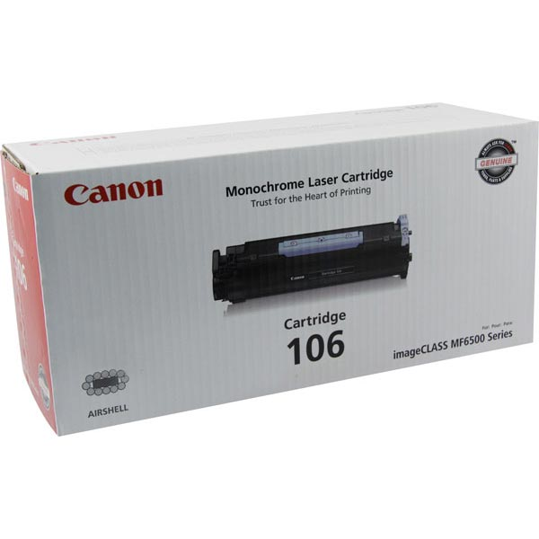 Genuine OEM Canon 0264B001AA (Canon 106) Black Toner Cartridge (5000 page yield)