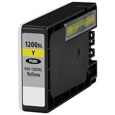 Premium Quality High Capacity Yellow Inkjets compatible with the Canon (PGI-1200xl Y) 9198B001
