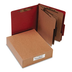 "Classification Folders, 4"" Exp,Letter,3 Partition, Earth Red"