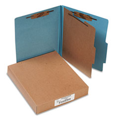 "Classification Folders, 2"" Exp, Letter,1 Partition, Sky Blue"