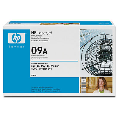 Genuine OEM HP C3909A (HP 09A) Black Toner Cartridge (15000 page yield)