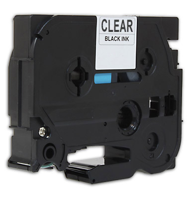 Premium Quality  Black Print on Clear   Label Tape compatible with the Brother  TZe-141/TZ-141