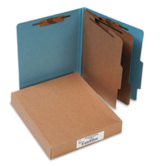 "Classification Folders, 3"" Exp, Letter,2 Partition, Sky Blue"