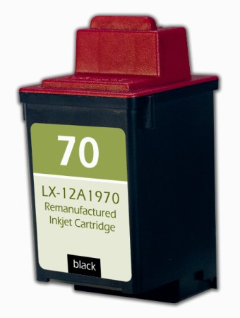 Premium Quality Black Inkjet Cartridge compatible with the Lexmark (Lexmark #70) 12A1970